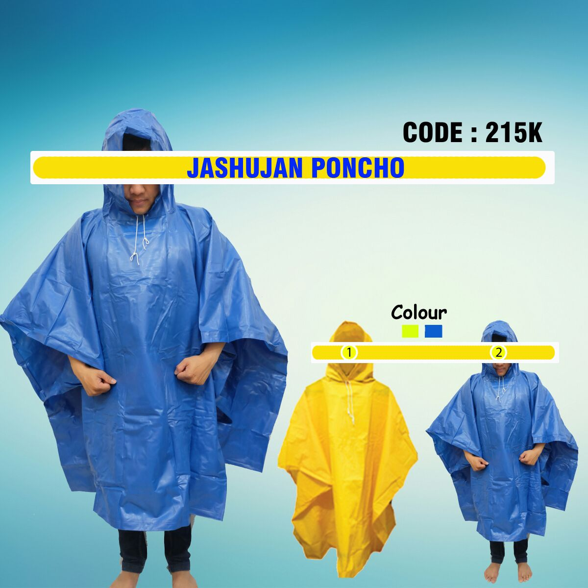 Jual Jas Hujan Poncho Code 215K