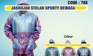 Jas Hujan Setelan Sporty Dewasa Code 788